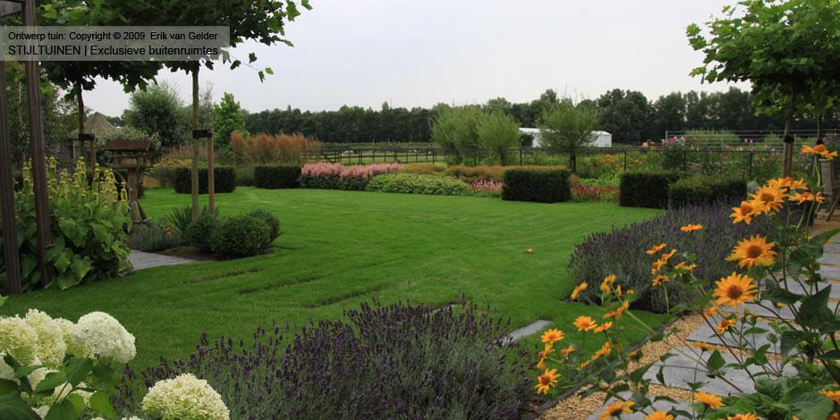 Landelijke moderne tuin - tuinonderhoud door Van Gelder Tuinen