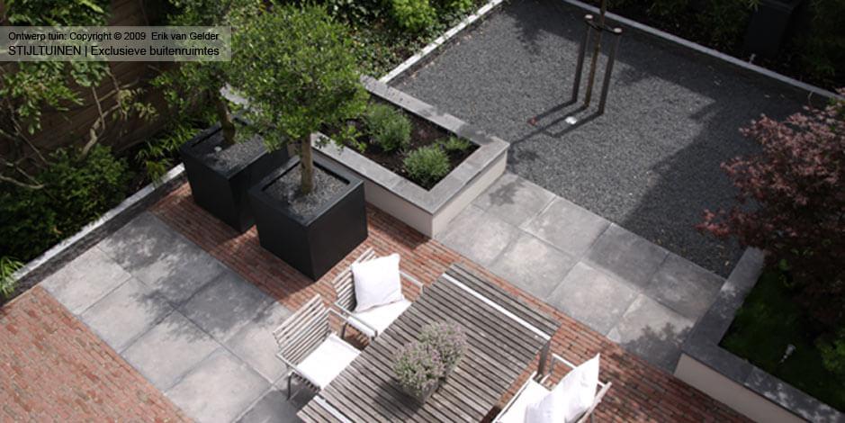 Tuinideeen strakke tuinontwerpen moderne tuin