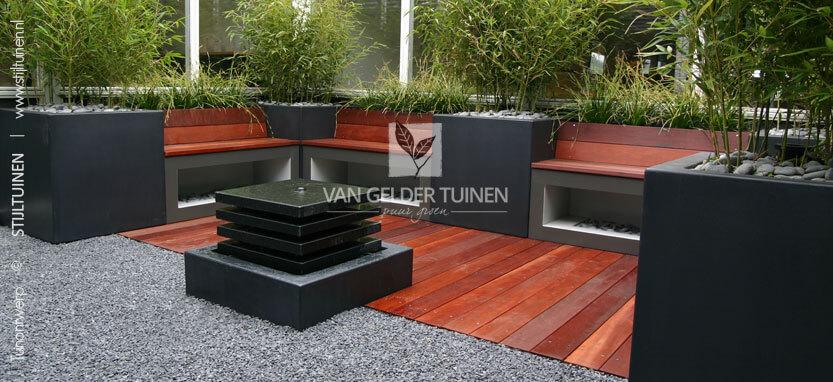 Tuinontwerpen moderne patiotuinen