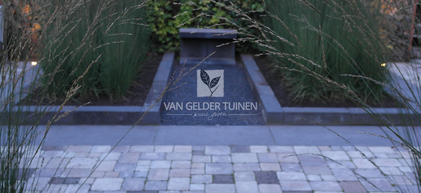 Zitelement in moderne tuin