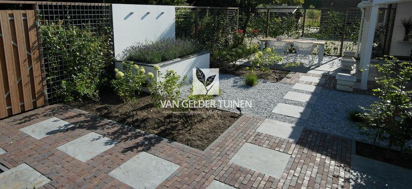 Romantische klassieke moderne tuin