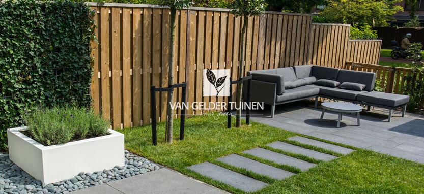 Onderhoudsarme relax tuin moderne uitstraling